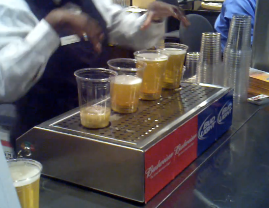 Bottoms Up Beer Dispenser