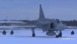 Sledding behind a Jet