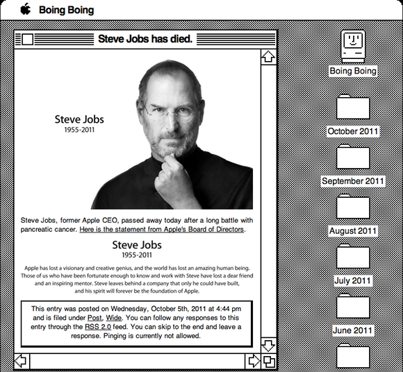 BoingBoing.net Tribute to Steve Jobs