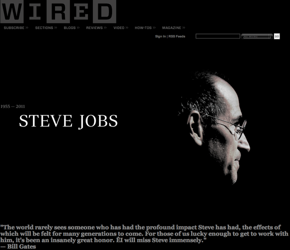Wired.com Tribute to Steve Jobs